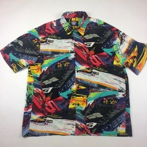 Vintage Jams World Hawaiian Racing Boats Shirt